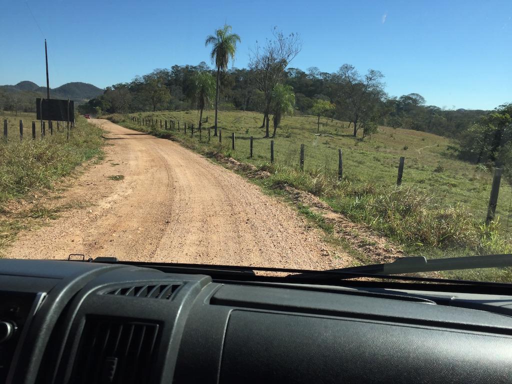 Zufahrt zur Estancia Miranda