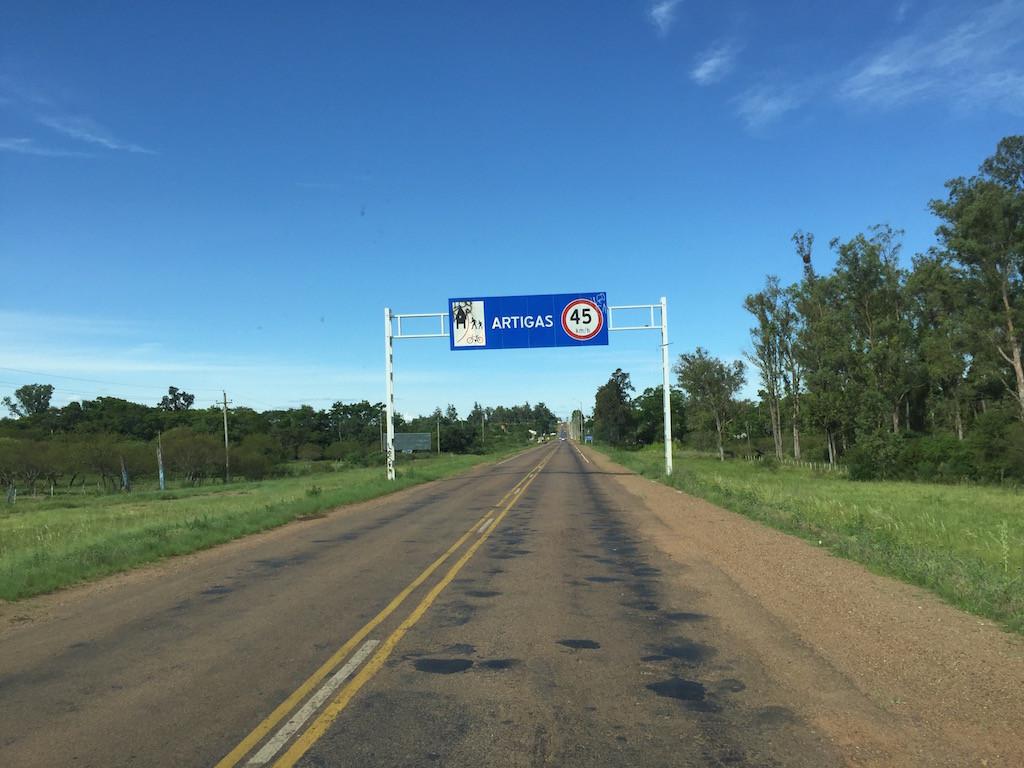 gut erreichen wir nach 90 km die Ruta 4!