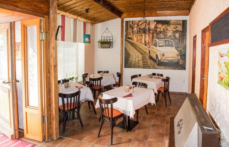 Italienischer Flair bei uns im Restaurant.