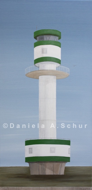 """DAS Art"" Leuchtturm Ostsee 3: Kieler Förde (Friedrichsort)   (60x30)"
