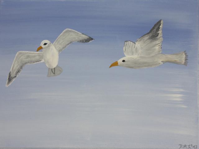 """""""DAS Art"""" Möwen   (40x30)"""