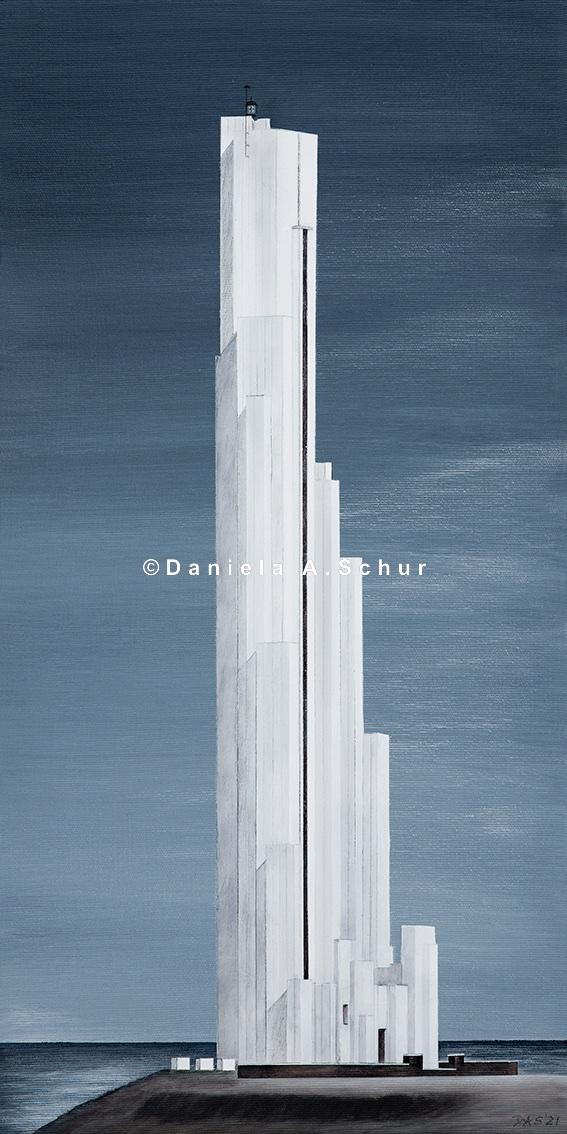 """""""DAS Art"""" Leuchtturm Spanien: Teneriffa   (60x30)"""