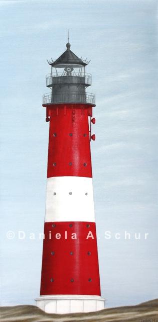 """""""DAS Art"""" Leuchtturm Nordsee 12: Sylt/Hörnum   (60x30)"""