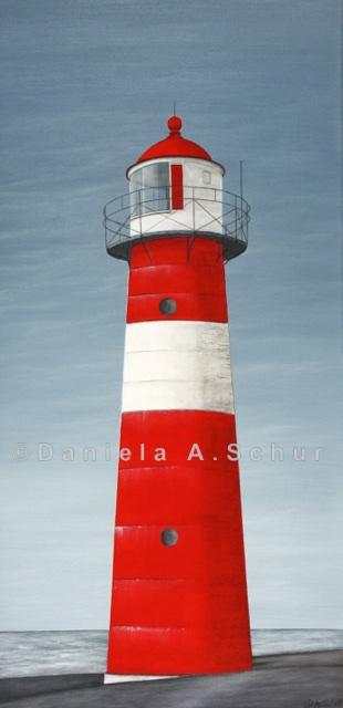 """""""DAS Art"""" Leuchtturm Niederlande: Westkapelle   (60x30)"""