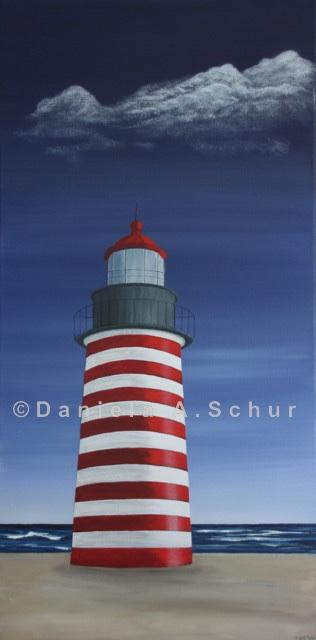 """""""DAS Art"""" Leuchtturm USA 1: Maine   (80x40)"""