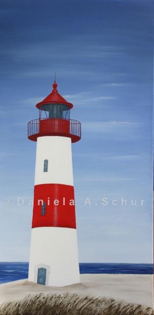"""DAS Art"" Leuchtturm Nordsee 4: Sylt/List   (80x40)"