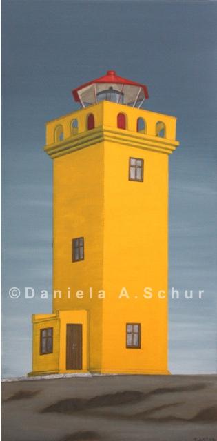 """DAS Art"" Leuchtturm Island 1:  Svörtuloft   (60x30)"