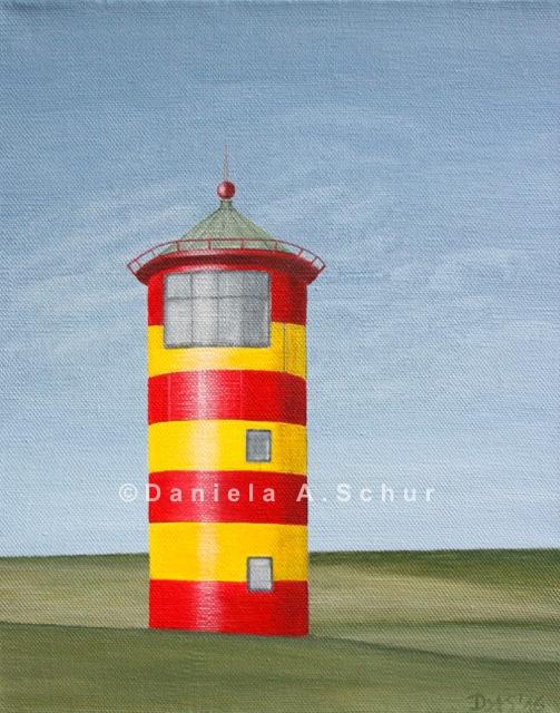 """""""DAS Art"""" Leuchtturm Nordsee 7: Pilsum   (30x24)"""