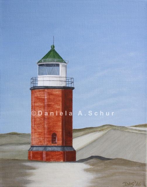 """""""DAS Art"""" Leuchtturm Nordsee 8: Sylt/Kampen    (30x24)"""