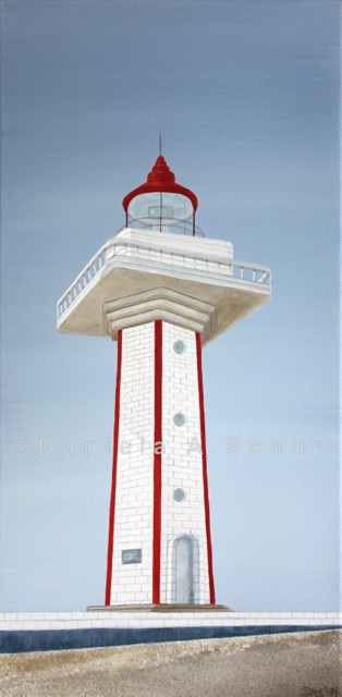"""DAS Art"" Leuchtturm China: Guangdong   (60x30)"