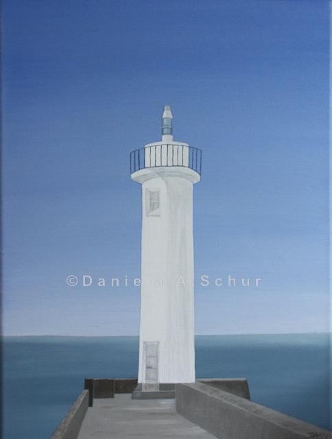"""DAS Art"" Leuchtturm Bretagne 2: Audierne   (40x30)"