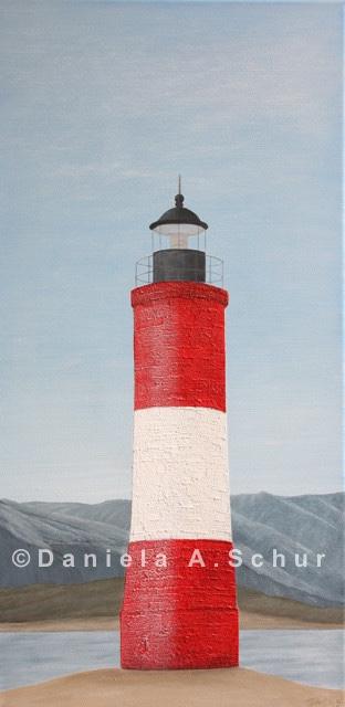 """DAS Art"" Leuchtturm Argentinien: Ushuaia   (60x30)"