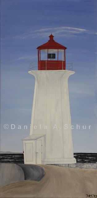 """""""DAS Art"""" Leuchtturm Kanada: Neuschottland   (60x30)"""