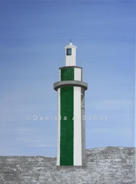 """DAS Art"" Leuchtturm Bretagne 3: Bénodet   (40x30)"