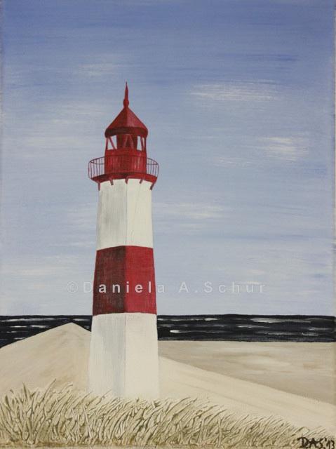 """""""DAS Art"""" Leuchtturm Nordsee 1 klein:   (40x30)"""