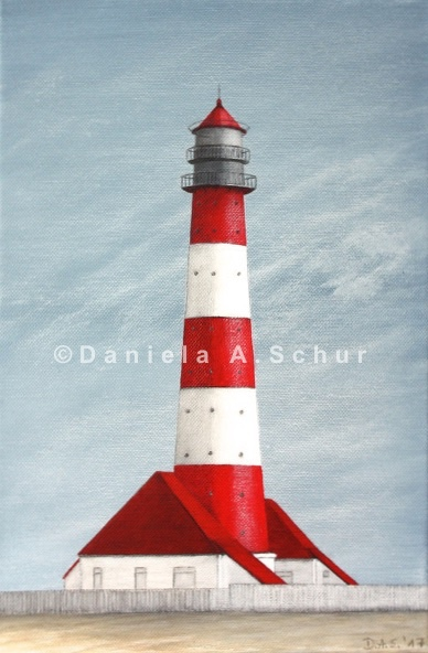 """""""DAS Art"""" Leuchtturm Nordsee 14: Westerheversand   (30x20)"""