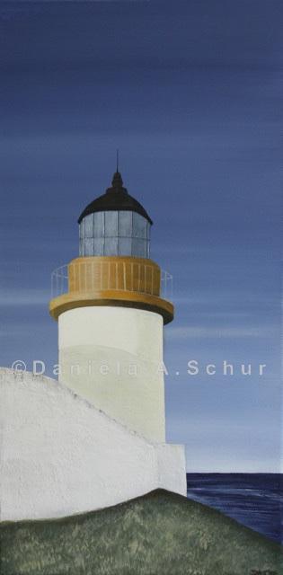 """""""DAS Art"""" Leuchtturm Schottland: Bressay   (60x30)"""