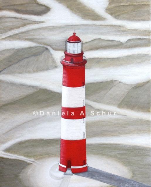 """DAS Art"" Leuchtturm Nordsee 11: Amrum   (30x24)"