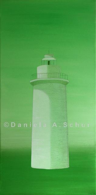 """""""DAS Art"""" Leuchtturm Irland grün: County Cork   (60x30)"""