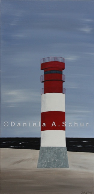 """""""DAS Art"""" Leuchtturm Nordsee 3: Helgoland   (60x30)"""