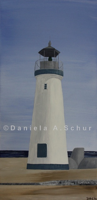 """DAS Art"" Leuchtturm USA: Kalifornien, Santa Cruz   (60x30)"