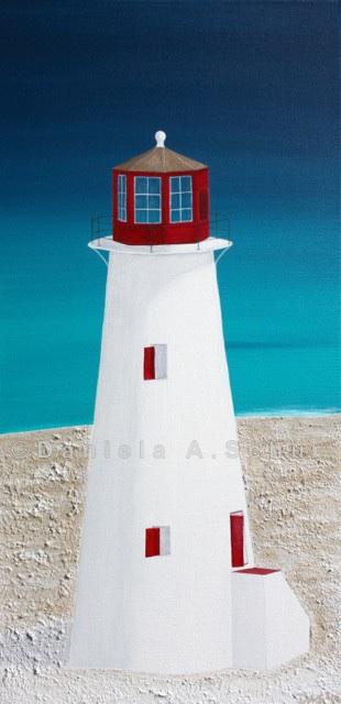 """DAS Art"" Leuchtturm Bahamas: New Providence   (60x30)"