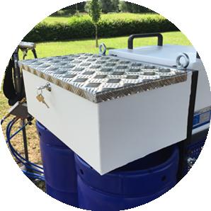 Abschließbare Servicebox für Wartungs- und Reinigungsmarterial