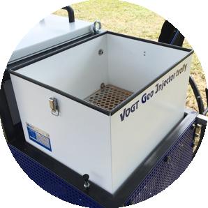 Seltenes Befüllen durch den 40 Liter großen Vorratsbehälter