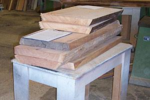 Holz für die Fenster