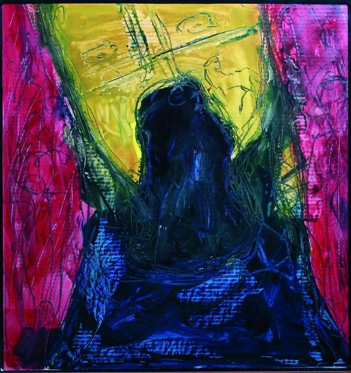 Sechste Station: Veronika reicht Jesus das Schweißtuch