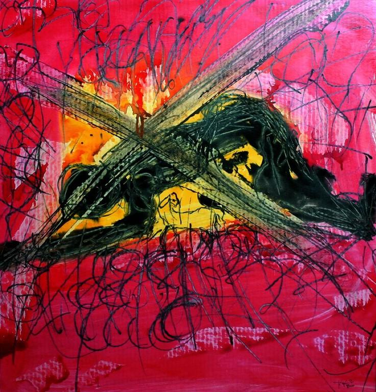 Neunte Station: Jesus fällt zum dritten Mal unter dem Kreuz