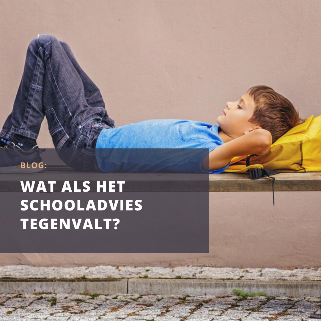 Hoe ga je om met de teleurstelling van een tegenvallend schooladvies?