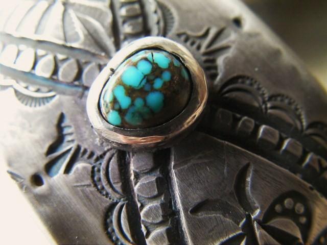 Indian Mt. turquoise,シルバーブレスレット,ターコイズブレスレット