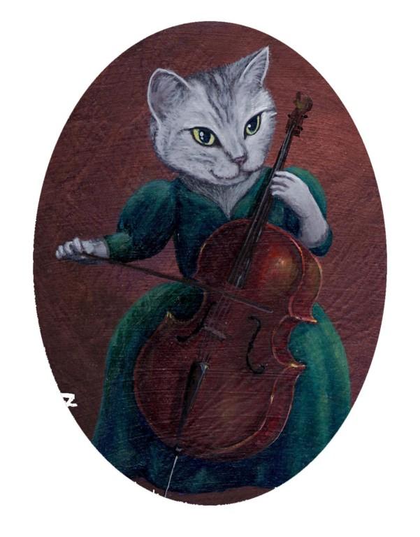 セロ弾き猫
