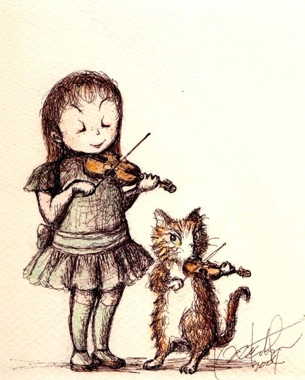 ヴァイオリンのおけいこ