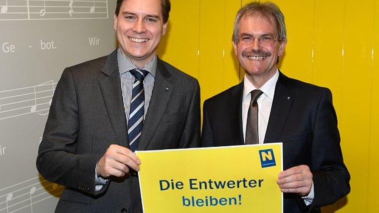Foto (Land NÖ): LAbg. Christoph Kaufmann und Verkehrslandesrat Karl Wilfing