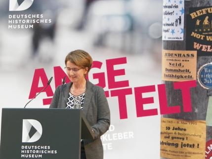 Ausstellungseröffung am 19.04.2016 - Rede von Dr. Isabel Enzenbach ©Wolfgang Siesing/Deutsches Historisches
