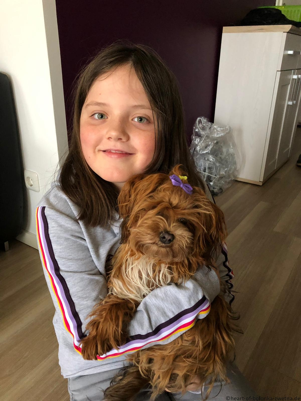 Greta mit ihrer Freundin Emily im Oktober 19