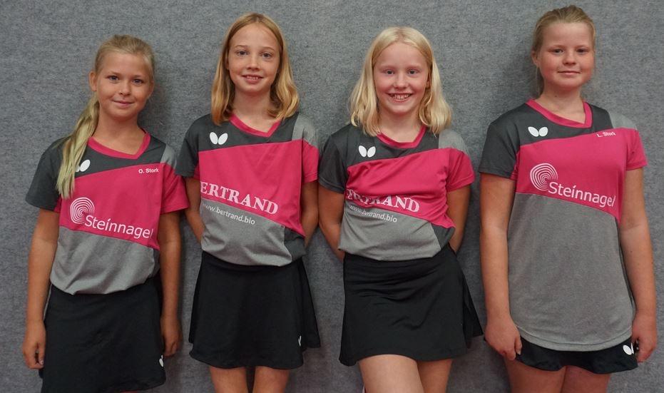 Kreisliga Mädchen 15, v.l.n.r.: Olivia Stork, Lisa Karbstein, Franziska Döring & Lilly Stork