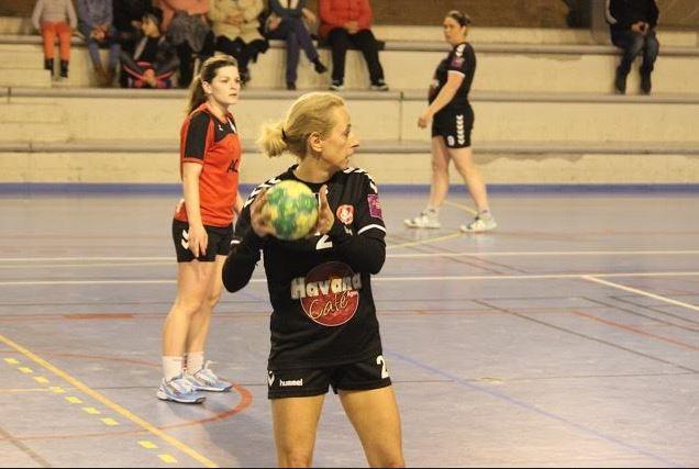 Marie Thil nouvelle capitaine de la prénat, auteure de 3 buts samedi.