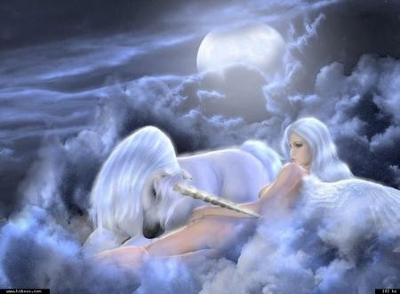 La femme vierge et la licorne