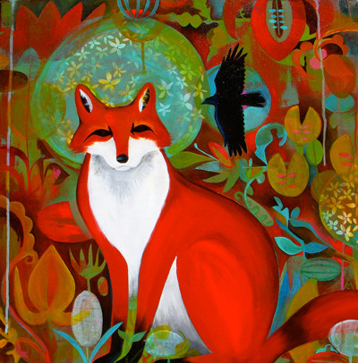 Red Fox | 24 x 24 Acrylic on Panel