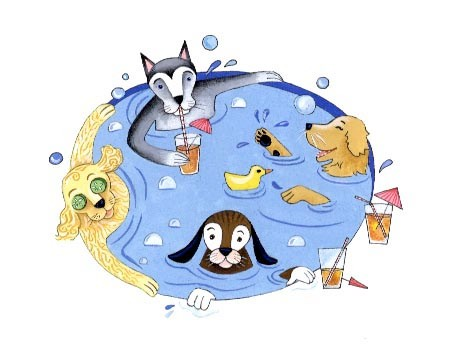Dog Spa / spot illustration / Client: Atlanta Magazine