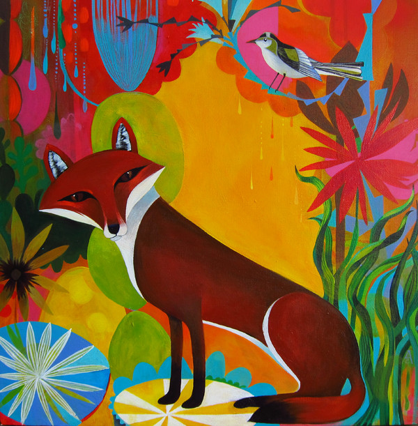 Fox | 24 x 24 Acrylic on canvas