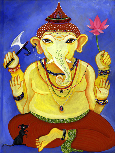 Ganesha | Gouache on paper | available as print