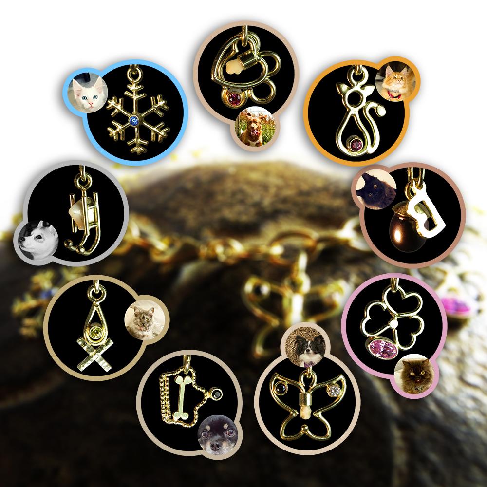 14kt goud met diverse edelstenen