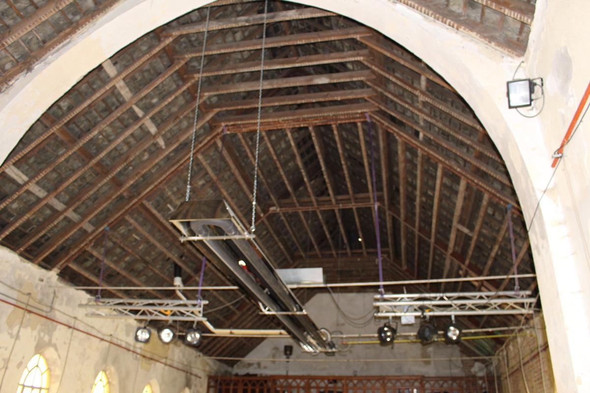 2014-2020 La chapelle de Profondsart, toiture vue de l'intérieur