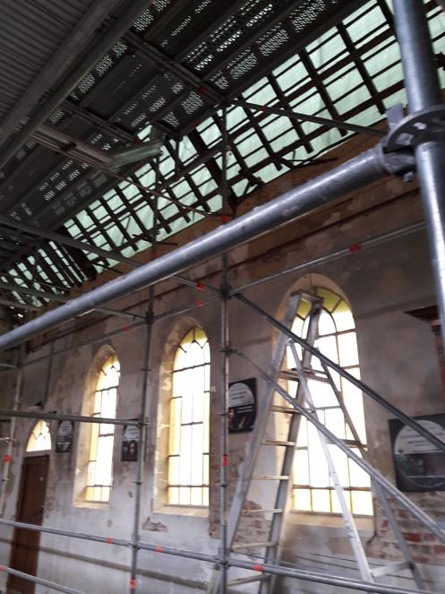16/07/2020 La chapelle de Profondsart, se prépare pour la nouvelle charpente