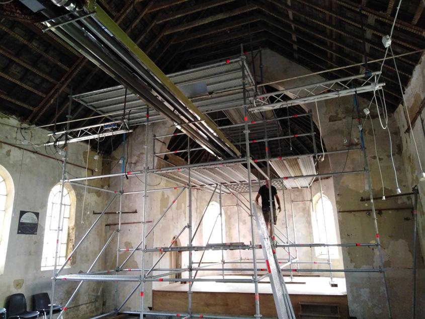 27/06/2020 La chapelle de Profondsart, démarrage des travaux