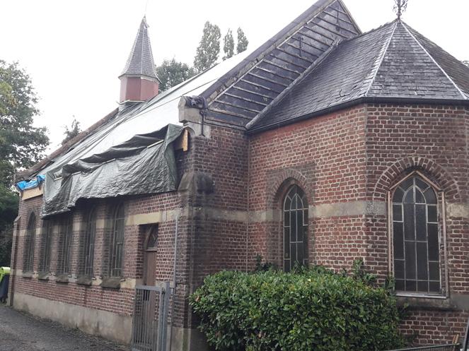 15/07/2020 La chapelle de Profondsart bâchée